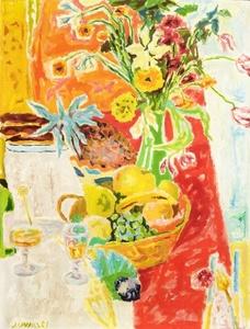 Jules CAVAILLES - Pintura - Fleurs et fruits