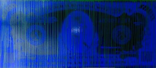 ZEVS - Painting - Blue Dollar