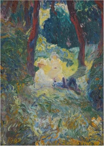 Alexander Ivanovich LAZHECHNIKOV - Peinture - Soir d'Automne