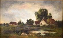 Charles François DAUBIGNY - Painting - Paisaje Urbano