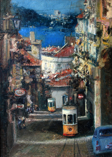 Levan URUSHADZE - Pintura - Bica elevator. Lisbon