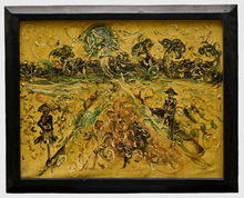 AFFANDI - Peinture - HARVEST IN RICE FIELD