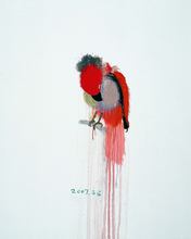 WANG Yuping - Painting - Red Parrot