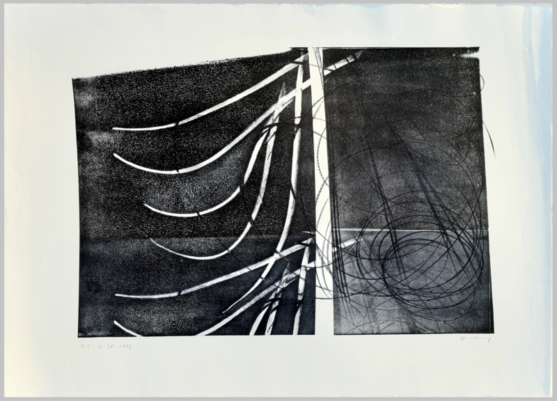 Hans HARTUNG - Estampe-Multiple - L-38-1973