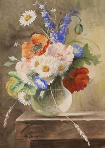Bouquet De Fleurs De Printemps Dans Un Vase Arthur Chaplin Vente