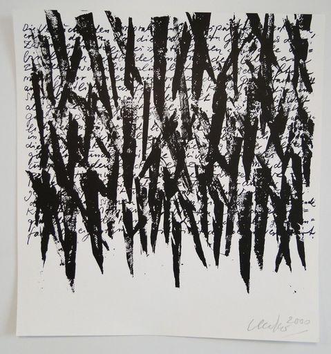 Günther UECKER - Print-Multiple - Wort Schrift Zeichen