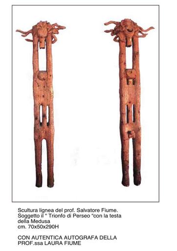 Salvatore FIUME - Sculpture-Volume - il trionfo di Perseo con la testa della Medusa