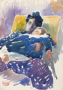 Henri Edmond CROSS - Zeichnung Aquarell - Mary Cassatt, Une Américaine à Paris, Musée Jacquemart-André