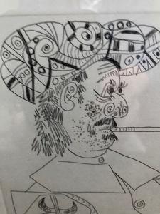 Pablo PICASSO - Estampe-Multiple - Vieux Corsaire a la Retraite Fumant sa Pipe