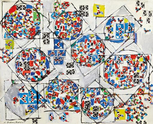 Natalia DUMITRESCO - Peinture - Geometric Composition on White