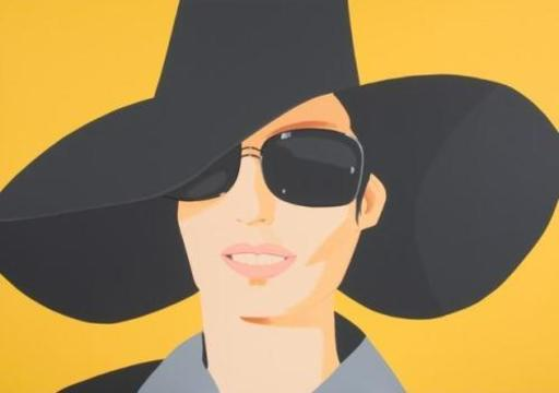 Alex KATZ - Grabado - Vivien in Black Hat