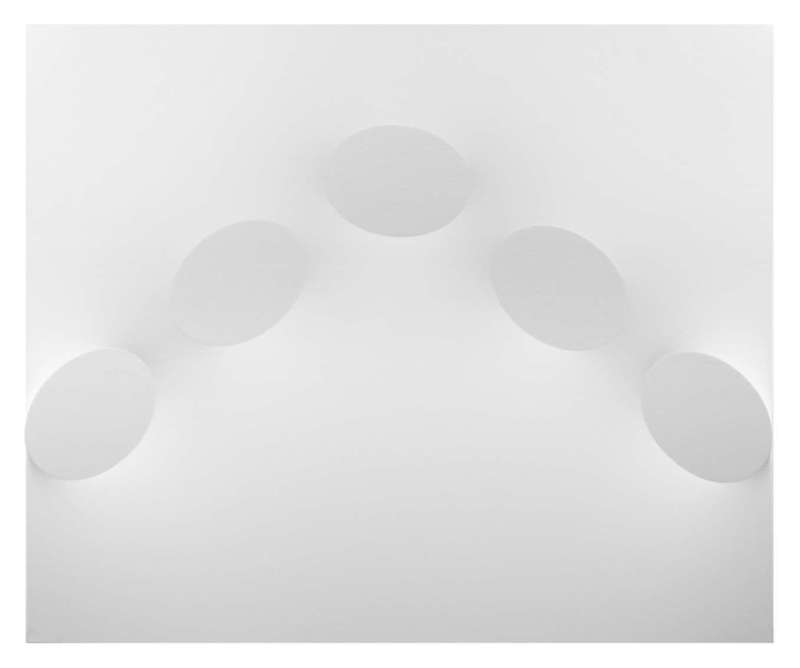 Turi SIMETI - Painting - 5 ovali bianchi