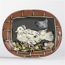 巴勃罗•毕加索 - 陶瓷  - Colombe à la lucarne