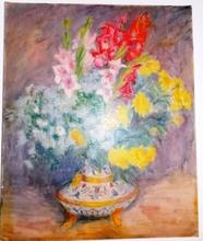 Raphaël DROUART - Pintura - vase de fleurs