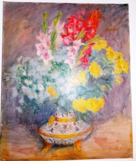 Raphaël DROUART - Peinture - vase de fleurs