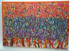 JONONE - Painting - 115 on fire