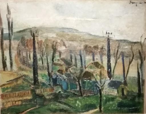 Edmond JACQUEMENT - Painting - Paysage en Limousin