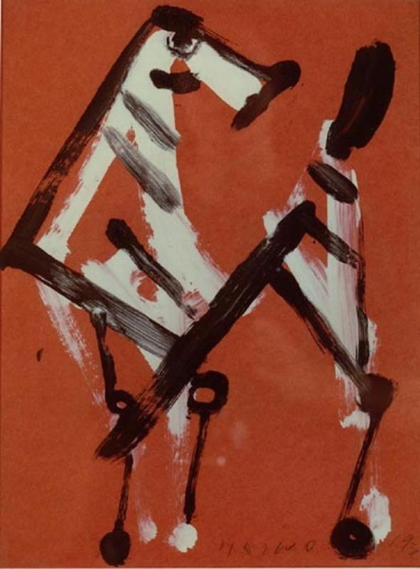 Marino MARINI - Painting - Cavallo