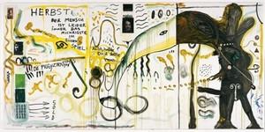 Jonathan MEESE - Peinture - OH, HERBST DU LEBST wie SAU, DANKE IHR TYRANNISCHEN