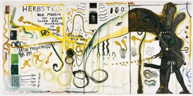 Jonathan MEESE - Painting - OH, HERBST DU LEBST wie SAU, DANKE IHR TYRANNISCHEN
