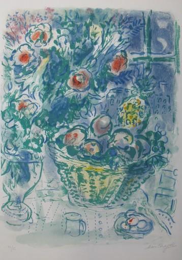Marc CHAGALL - Estampe-Multiple - *Corbeille de Fruits et Ananas