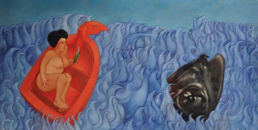 Bertrand JOLIET - Peinture - Shanghaied people : la lectrice