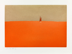 Alex KATZ, Red Sail, 1959 from the portfolio Small Cuts