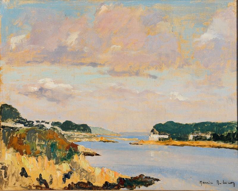 """Maurice DÉSIRÉ-LUCAS - Painting - PAIRE DE TABLEAUX """"BORDS DE FLEUVES"""""""
