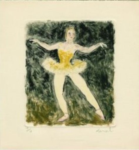Pierre DEVAL - Estampe-Multiple - BALLERINE-MONOTYPE