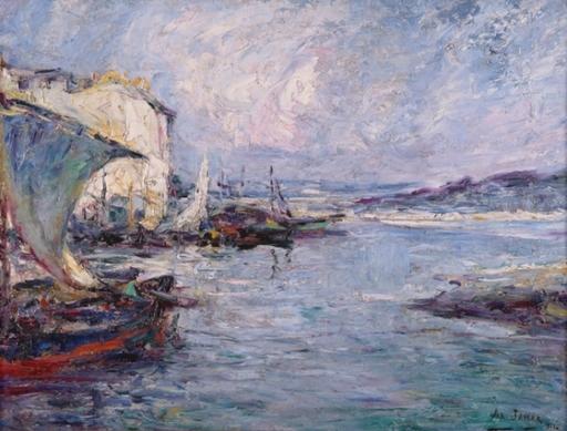 Armand G. G. JAMAR - Peinture - Retour de pêches à Martigues