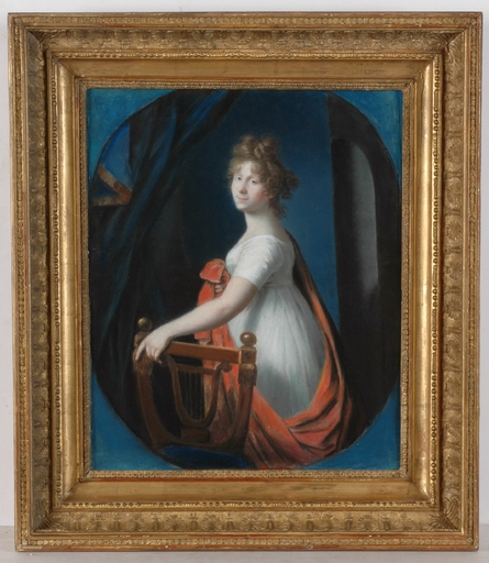 Johann Heinrich SCHRÖDER - Miniature - Princess Friederike of Prussia, Pastel from Royal Collection