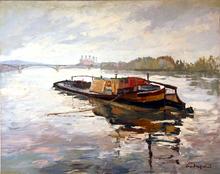 Henri ANDREPETIT (1912-?) - Le bassin d'Argenteuil