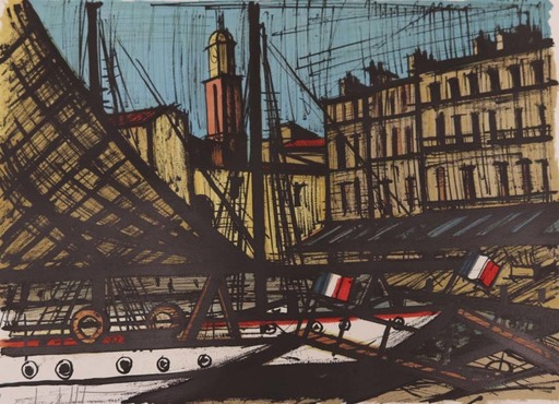 Bernard BUFFET - Estampe-Multiple - Le quai de Suffren