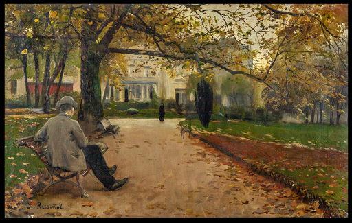 Santiago RUSIÑOL Y PRATS - Painting - Parque Moncieau París