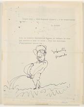 Pablo PICASSO - Drawing-Watercolor - Sabartes Meando