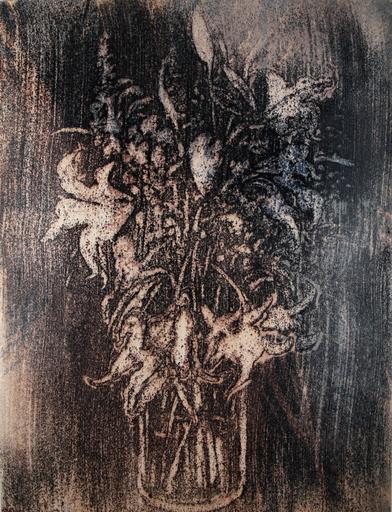 Philippe COGNÉE - Dessin-Aquarelle - Amaryllis (17A)