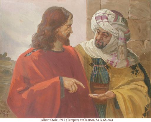 Albert STOLZ - Painting - Biblische Szene