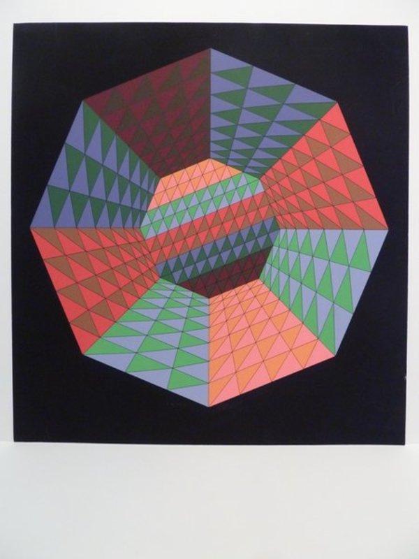 Victor VASARELY - Estampe-Multiple - sérigraphie