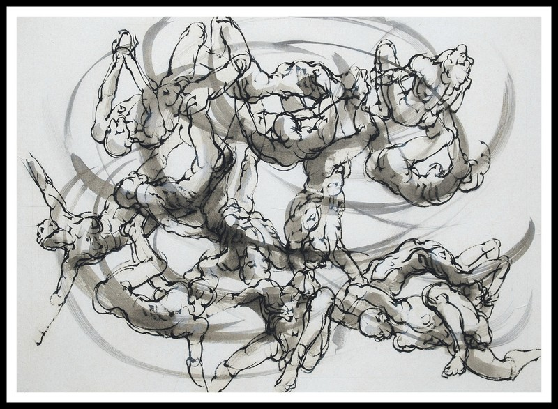 Marie TAKLANTI - Drawing-Watercolor - Remous