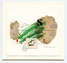 James COIGNARD - Drawing-Watercolor - DESSIN ET COLLAGE TECHNIQUE MIXTE SIGNÉ HANDSIGNED DRAWING