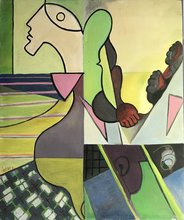Robert LABOR - Painting - LA TOUPIE