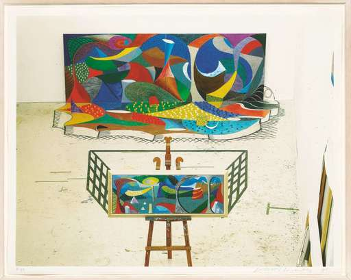David HOCKNEY - Print-Multiple - Snails Space: The Studio March 28th 1995