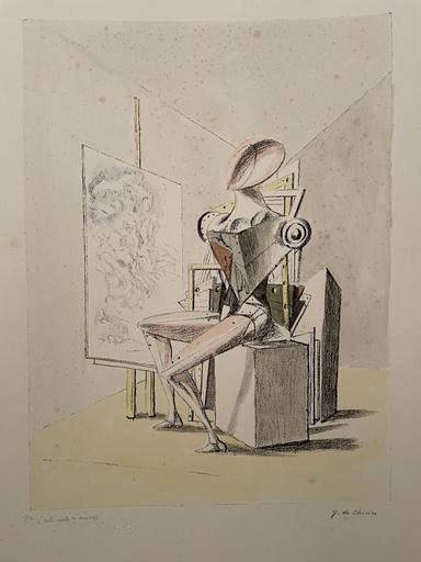 Giorgio DE CHIRICO - Druckgrafik-Multiple - Il pittore