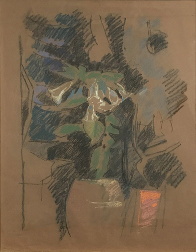 Albert GLEIZES - Drawing-Watercolor - Still Life with Flowers, verso 1935