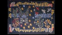 Jean LURÇAT - Tapiz - Papillons et feuillages