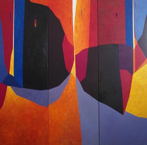 Tomás SUNYOL - 绘画 - Night Bars (triptych)