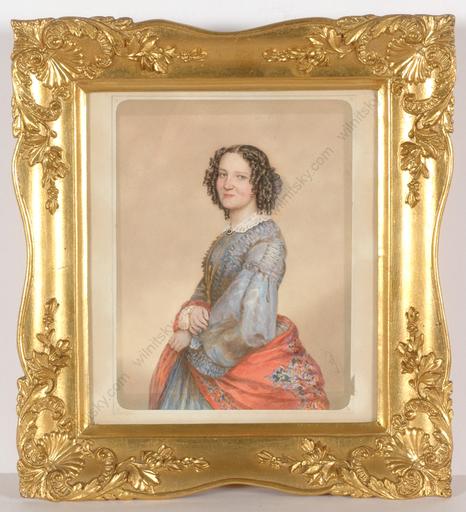 "Emanuel Thomas PETER - Dessin-Aquarelle -  ""Portrait of Anna Strelecz"""