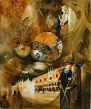 Roger SURAUD - Peinture - Carnaval de Venise