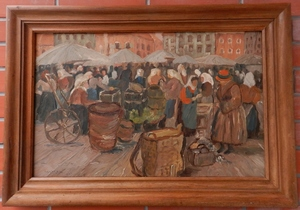 Tivadar Josef MOUSSON - Painting - Market