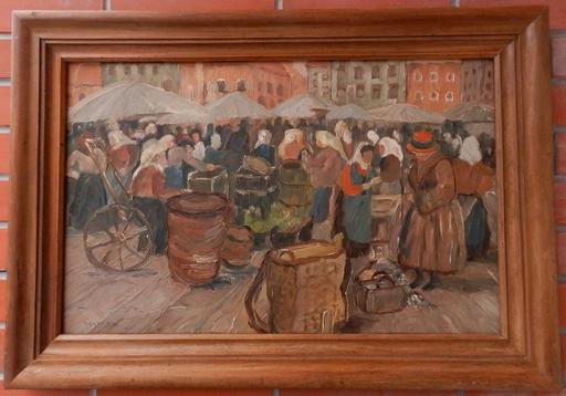 Tivadar Josef MOUSSON - Pintura - Market